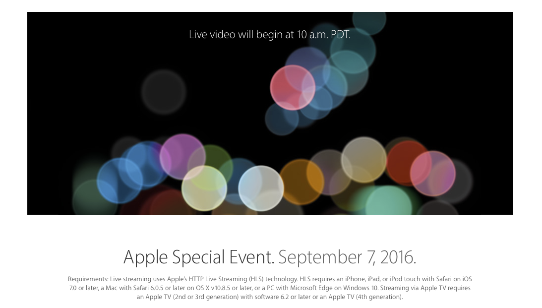 Live streaming Apple iPhone7